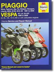 Manuel scooter Piaggio et Vespa