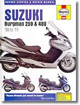 Revue technique moto Suzuki 250 AN, 400 AN Burgman