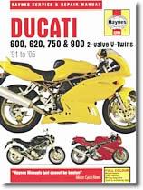 Ducati 600, 620, 750 et 900 cm³