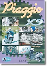 Manuel scooter Piaggio X9 - 125 cm³