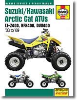LT-Z400, KFX400, DVX400