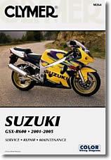 Manuel d'atelier Suzuki GSXR 600 (2001 à 2005)