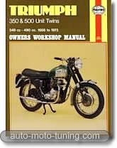 Manuel de réparation Triumph 350 et 500 cm³