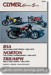 Triumph bicylindre 500, 650, 750 cm³