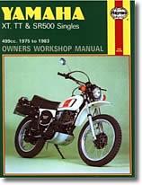 Yamaha XT 500, TT 500 et SR 500