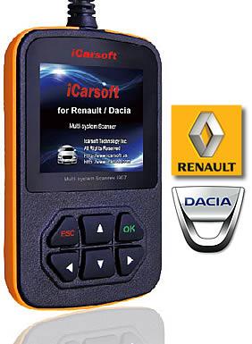 Outil OBDII pour Renault / Dacia