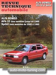 Revue technique Alfa 33 jusqu'à 1989