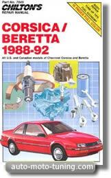 Manuel d'atelier Chevrolet Beretta (1988-1992)