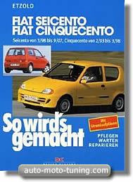 Manuel d'atelier Fiat Seicento (1998-2007)