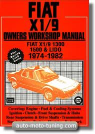 Manuel d'atelier pour Fiat X1-9