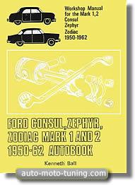 Manuel d'atelier Ford Consul (1950-1962)