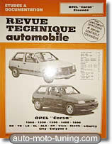 Revue technique Opel Corsa essence (1983-1991)