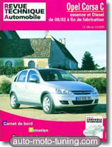 Rta Opel Corsa C essence et diesel (depuis 2003)