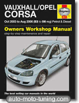 Revue technique Opel Corsa essence et diesel (2003-2006)