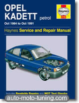Revue technique Opel Kadett essence (1984-1991)