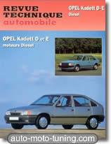 Revue technique Opel Kadett D et E diesel (1982-1990)
