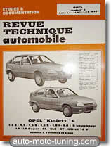 Revue technique Opel Kadett E (1985-1988)