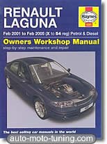 Revue technique Renault Laguna essence et diesel (2001-2005)