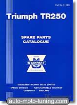 Triumph TR250 : catalogue des pièces détachées
