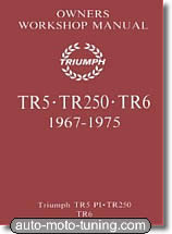 Revue technique automobile Triumph TR5 - TR250 - TR6