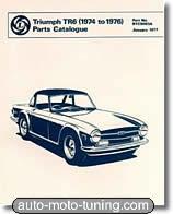 Triumph TR6, catalogue des pièces détachées