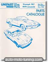 Catalogue des pièces détachées Triumph TR7