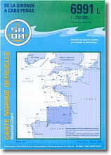 Carte de la Gironde à Cabo Penas