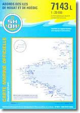 Carte des Abords des Îles de Houat et de Hoëdic