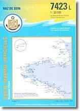 Carte de l'Île de Sein, pointe du Raz