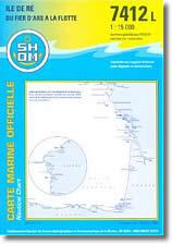 Carte de l'Île de Ré, du Fier d'Ars à la Flotte