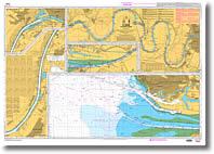 Carte de la Seine du Havre à Rouen