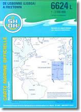 Carte marine de Lisbonne à Freetowm