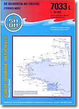 Carte marine de Quiberon au Croisic (Permis mer)