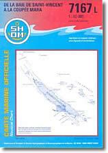 Carte marine de Saint-Vincent à la coupée Mara