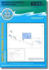 Carte marine de l'Archipel de la Société : Îles sous le vent